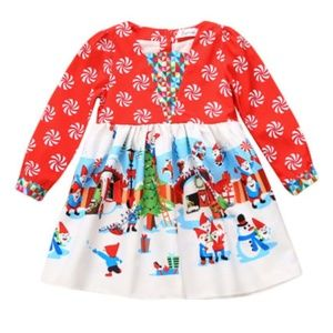 Other - Holiday winter christmas girls toddler dress